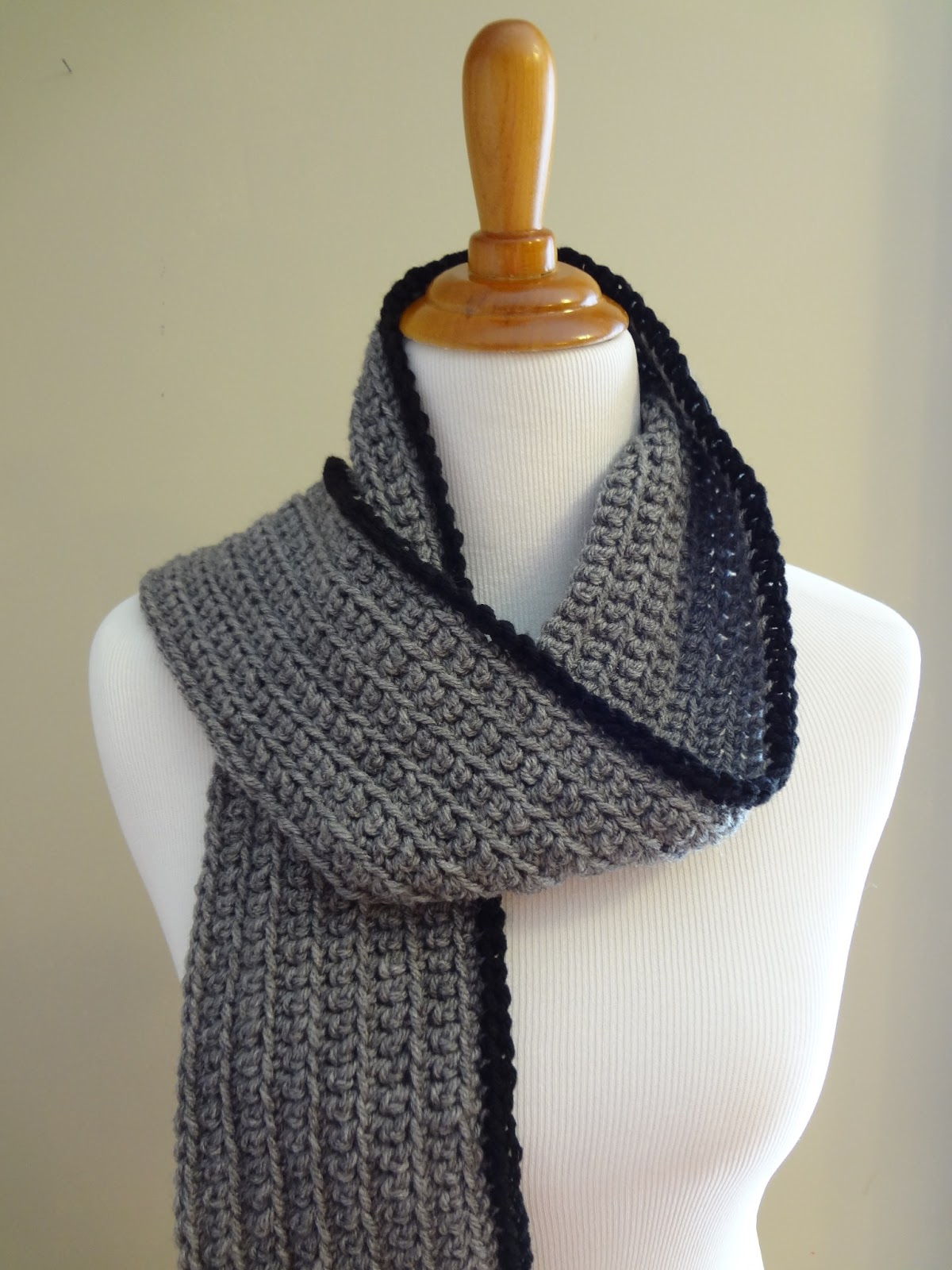 Fiber Flux: Free Crochet Pattern...Outline Ribbed Scarf