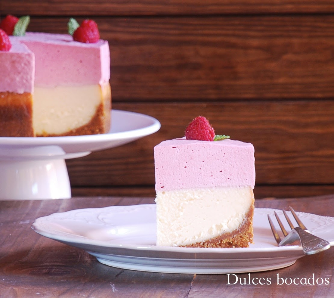 White Chocolate and Raspberry Mousse Cheesecake Recipe | TasteSpotting
