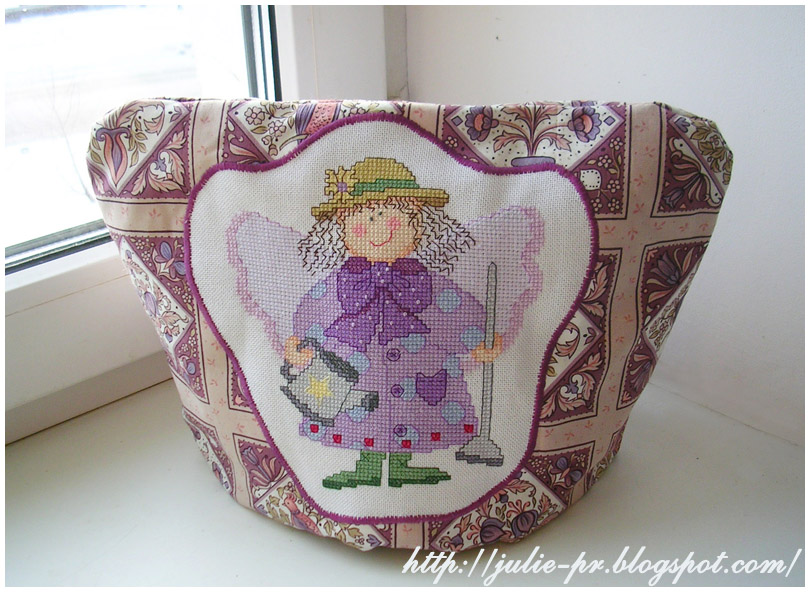 грелка на чайник Calico Crossroads Crysantha Mumford Linda Connors ангел сада вышивка cross stitch