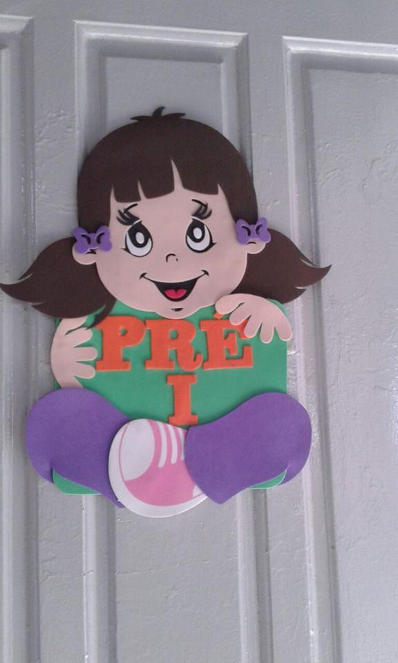 Decoração Porta de Banheiro Feminino Educação Infantil