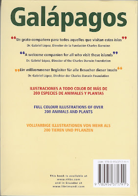 Galapagos: A Guide to the Animals and Plants by Nigel Sitwell - Back Cover