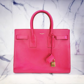 Lipstick Pink Leather Saint Laurent Classic Nano Sac De Jour