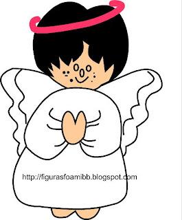 angel resando recortar en foami y otras manualidades