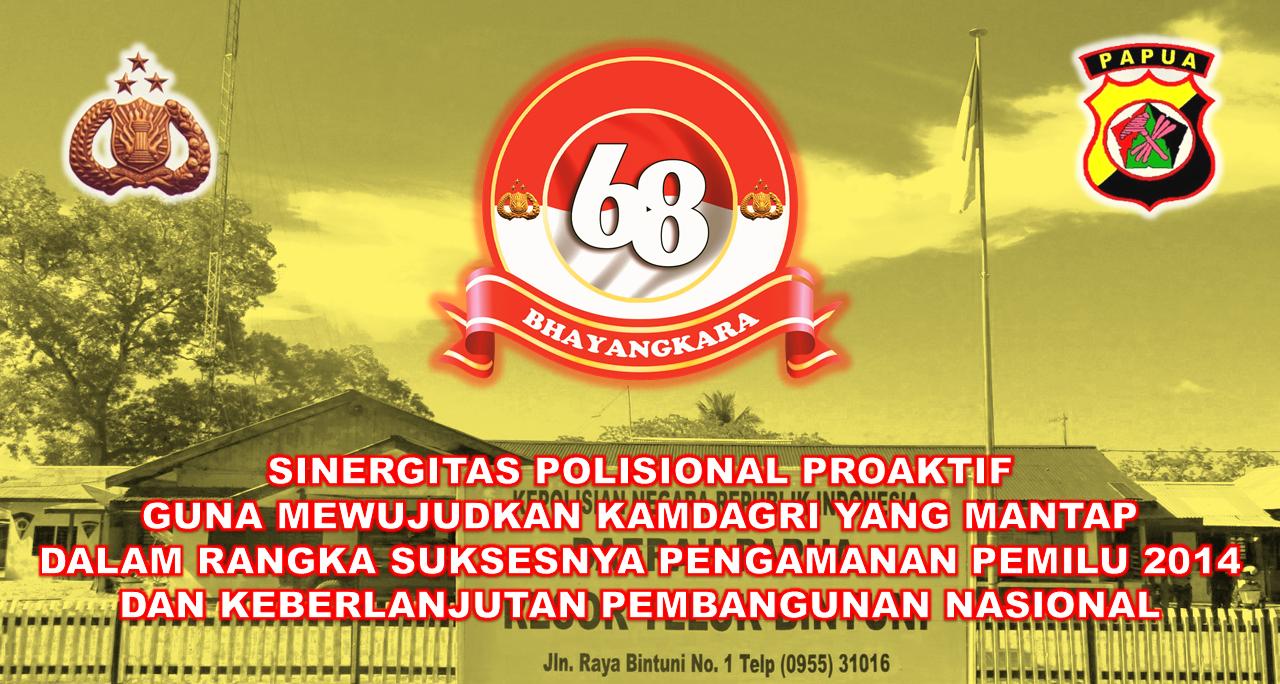 Tema dan Logo HUT Bhayangkara ke-68