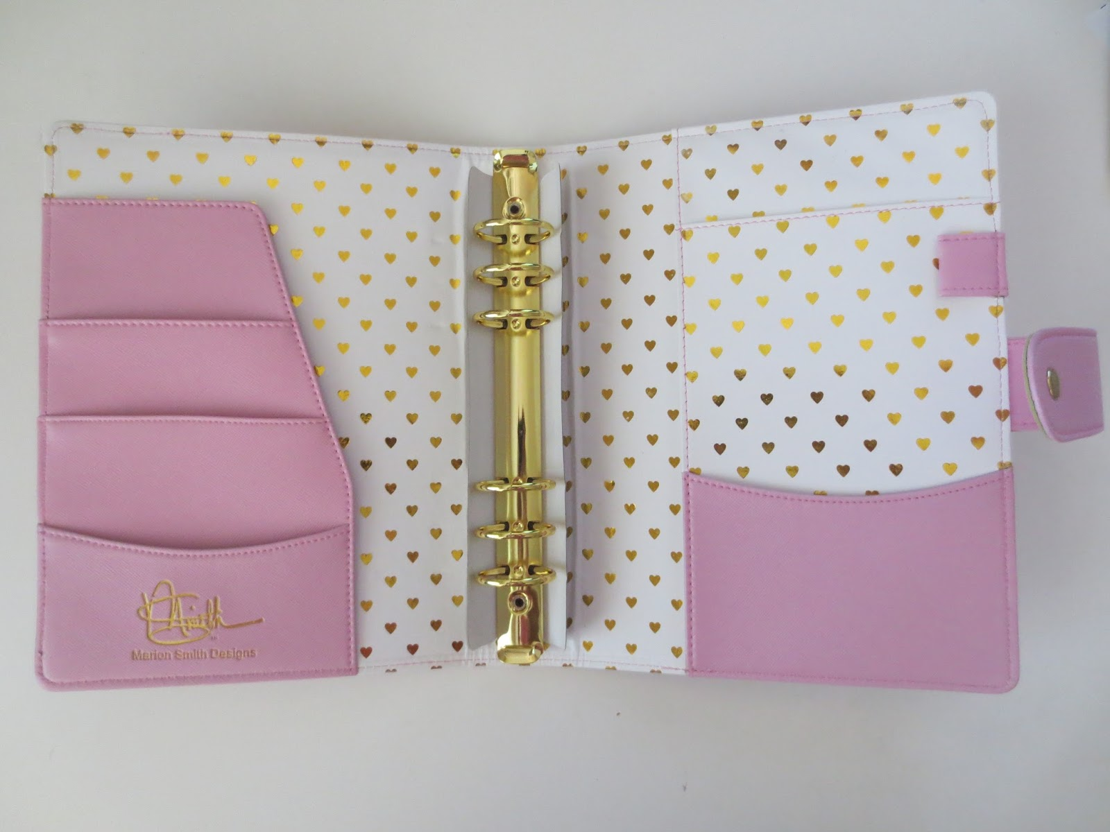 Love lace inc marion smith designs a5 planner binder review for Designer planners