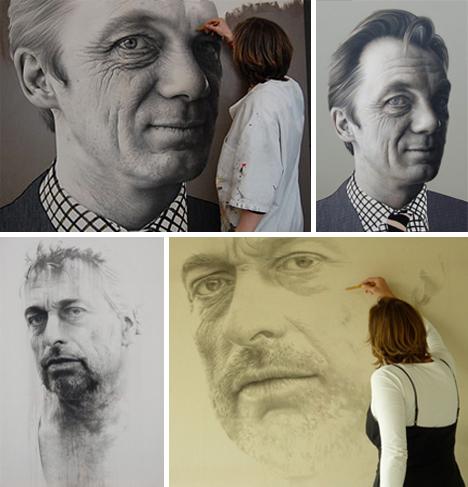 Retratos increíblemente reales.