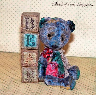 wooden decoupage blocks