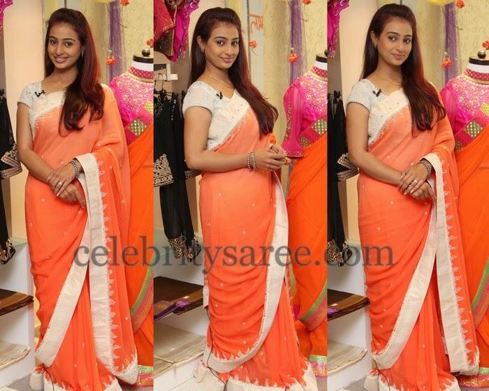 Rajeshwari Orange Saree