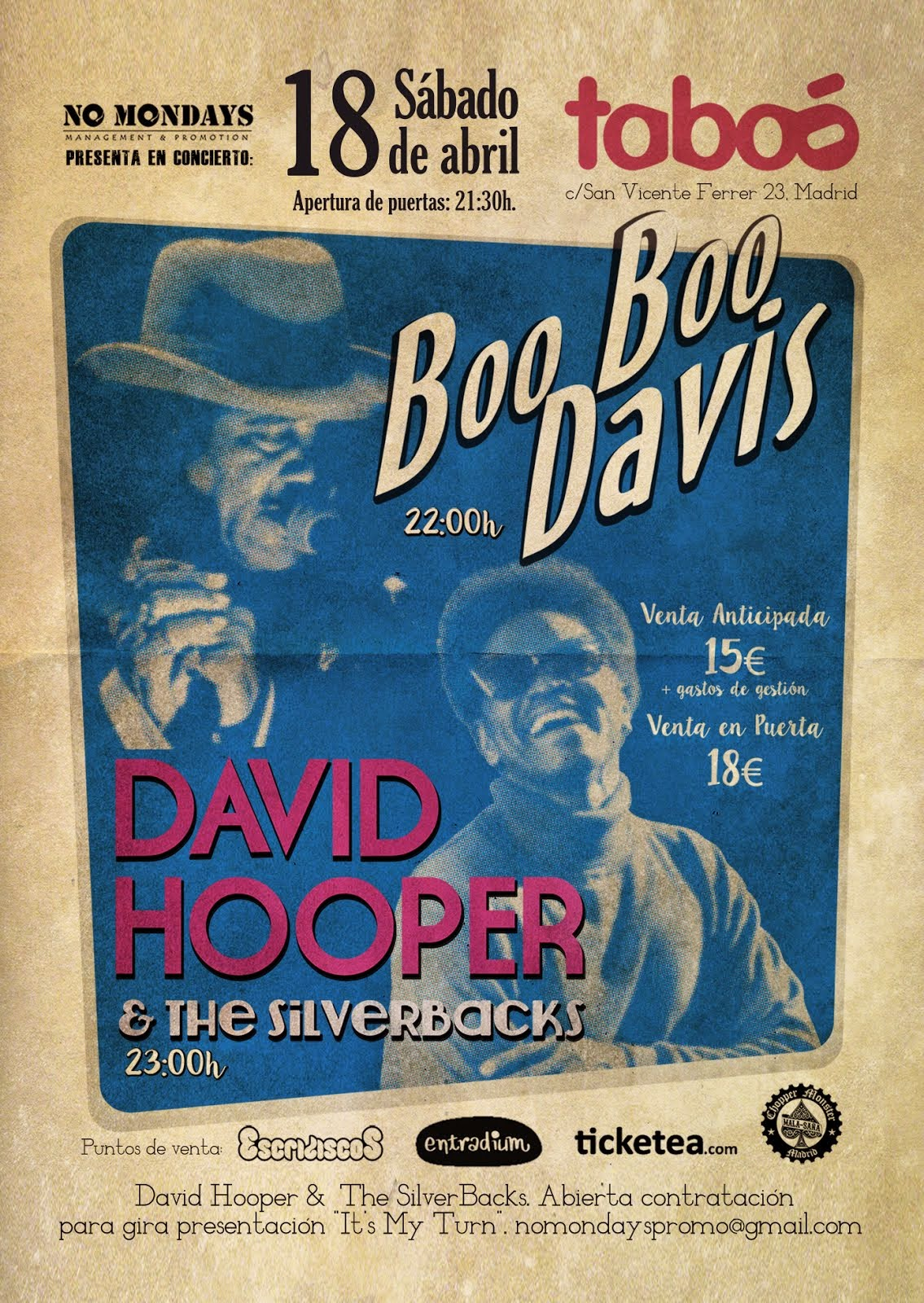 Boo Boo Davis + David Hooper & The Silverbacks (18/04/2015)