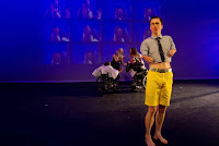 """The artist Mat Fraser performs during """"In Water I'm Weighless"""""""
