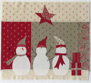 Merry Merry Snowman Block 6