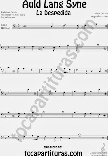 Partitura de La Despedida para Violonchelo y Fagot Popular Italia Auld Lang Syn Sheet Music for Cello and Bassoon Music Scores