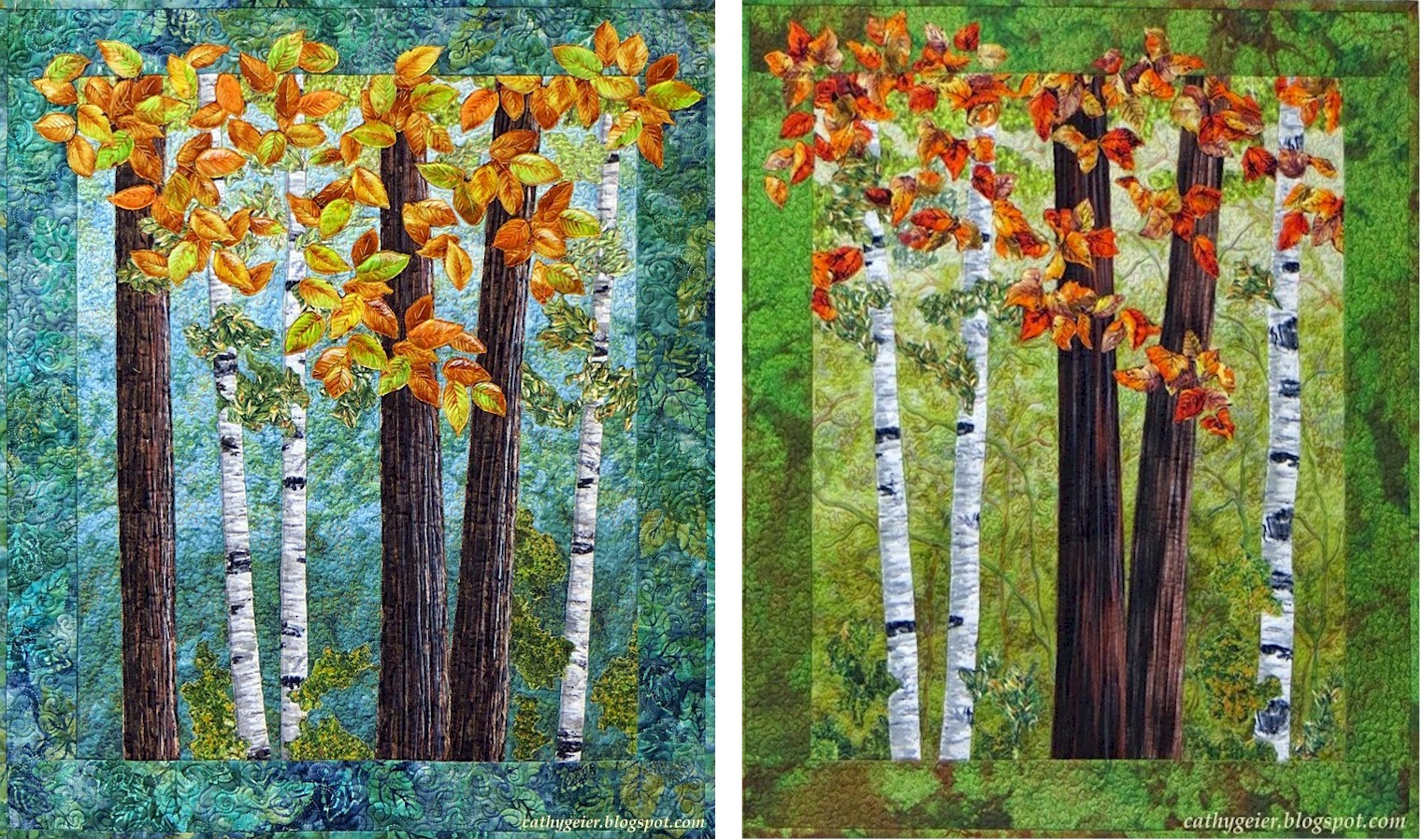 Cathy Geier's Quilty Art Blog: Lecture/Workshops : quilt tree classes - Adamdwight.com