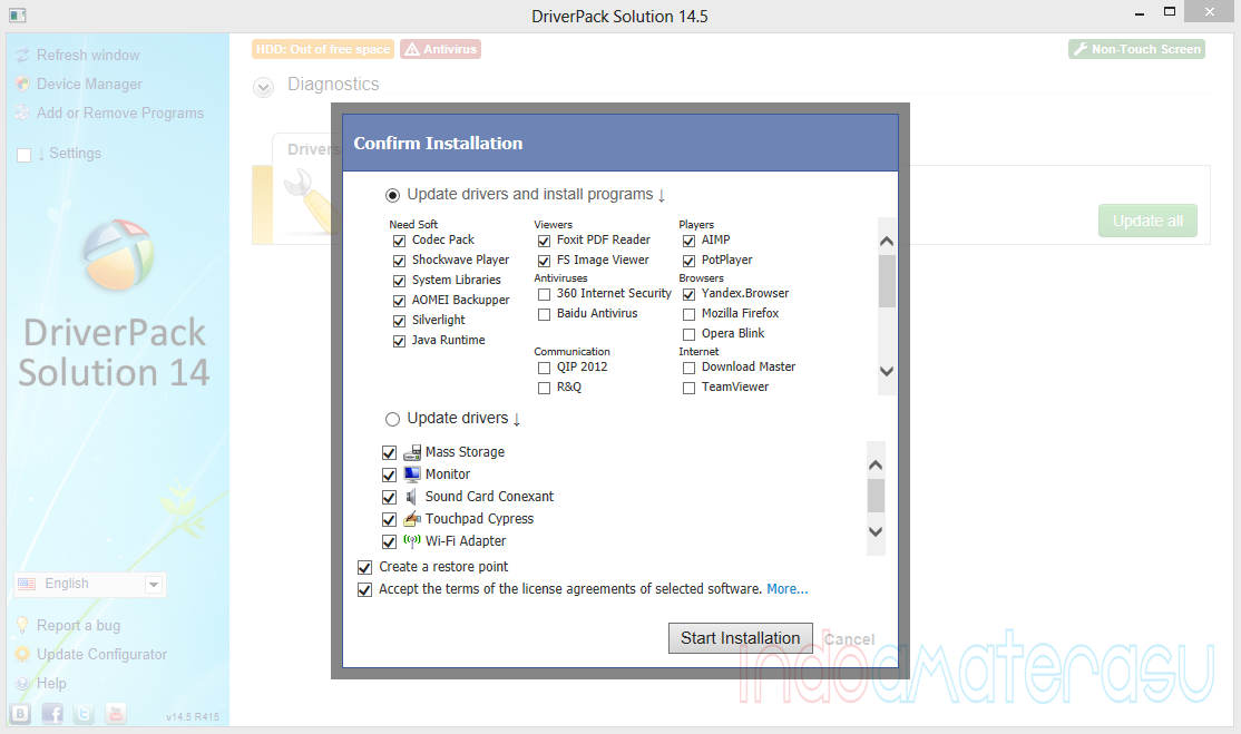 Update List DriverPack Solution 14.5 R415