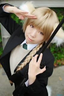 Kawasumi Serika cosplay as Lynette Bishop from Strike Witches