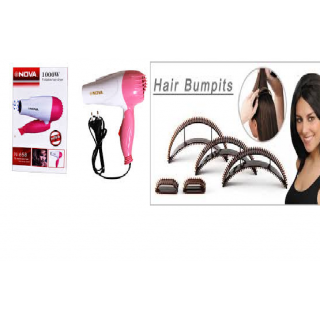 Buy Nova Foldable Stylish Hair Dryer With Free Hair Bumpits at Flat 86 % Off at Shopclues: Buytoearn