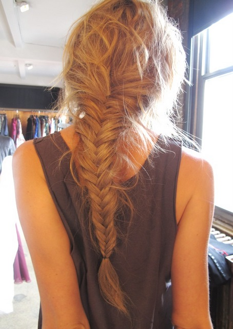 Love my hairstyle how to soft fishtail braid for Fish tails braid