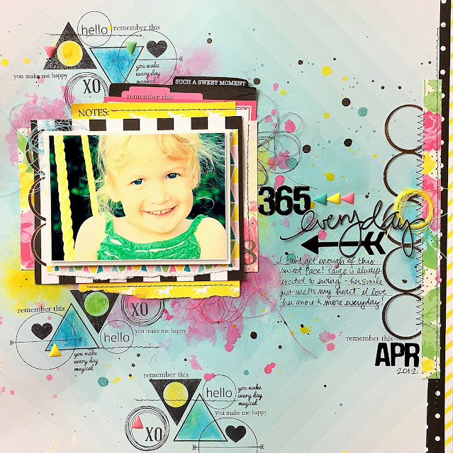 Missy Whidden Chickaniddy Crafts 365 layout