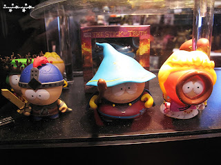 south park,  stan marsh, kyle broflovski, eric cartman and kenny mcCormick,figurine,collectibles,sculpture,art,comic con 2013,october 11th 2013,saturday,sunday,comic con sunday,comic con saturday,new york,nyc,manhattan,jacob javits center,newyork,