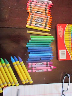 crayons for drip art