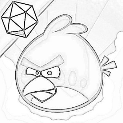 Red Bird Coloring Pages Angry Birds