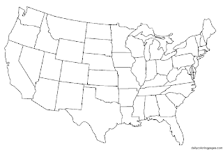 Clipart United States Map With Capitals And State Names Printable Us Map Without Names