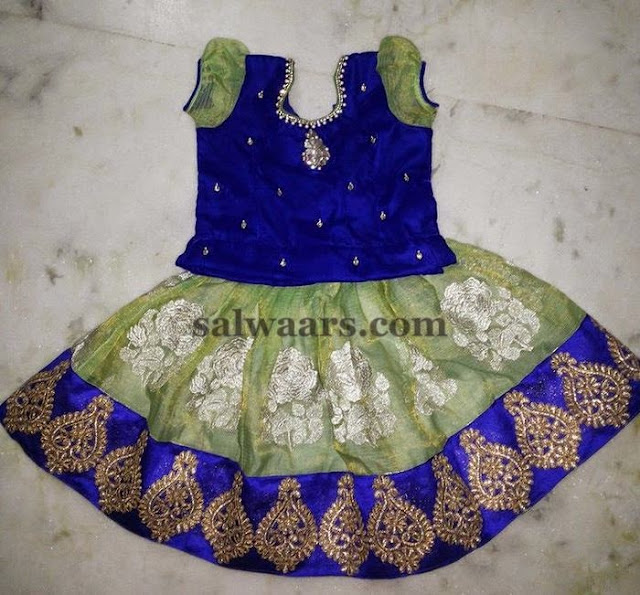 Unusual Color Lehenga with Blouse