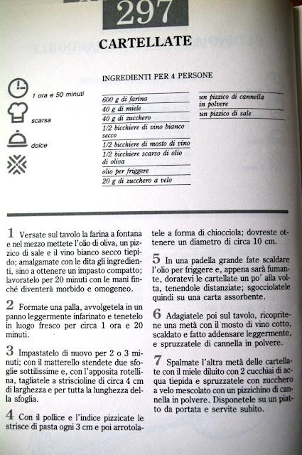 receta original en italiano de las cartellate