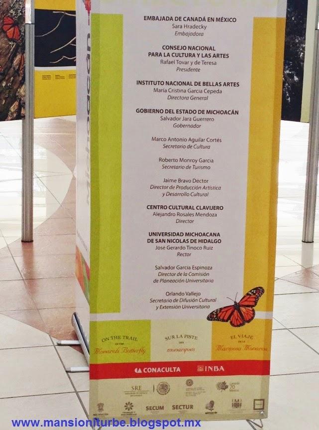Exposición el Viaje de la Mariposa Monarca