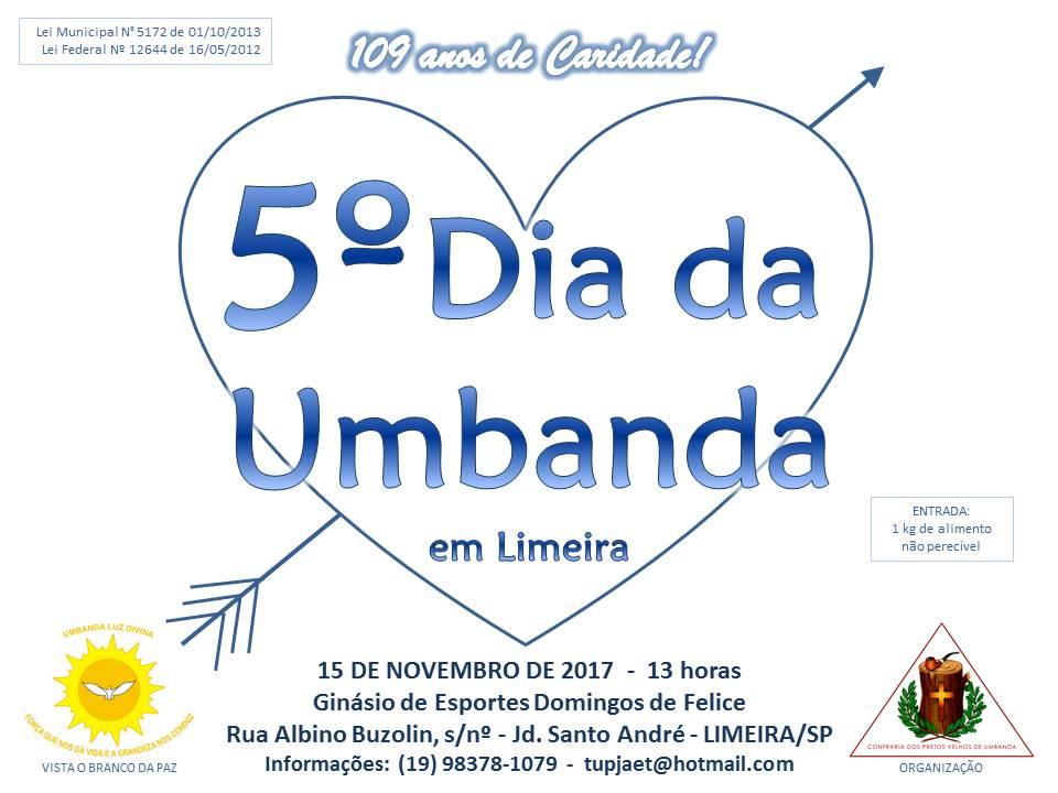 5º Dia da Umbanda em Limeira