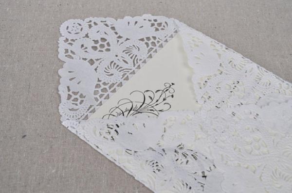 Lace envelopes - lindos cartões para convite de casamento