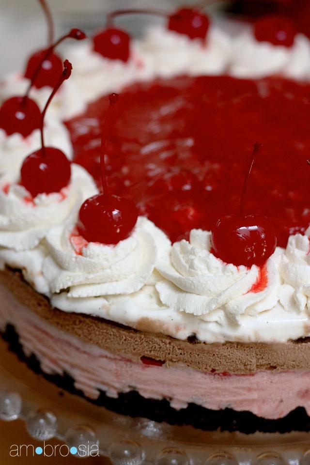 ambrosia: Banana Split Ice Cream Cake