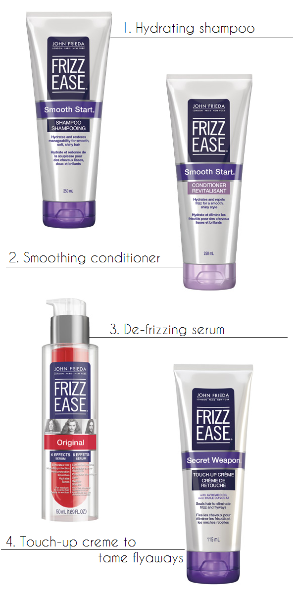 John Frieda regimen for low-maintenance, frizz-free locks