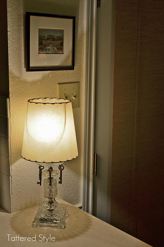Tattered Style Skeleton Keys Lamp Redo
