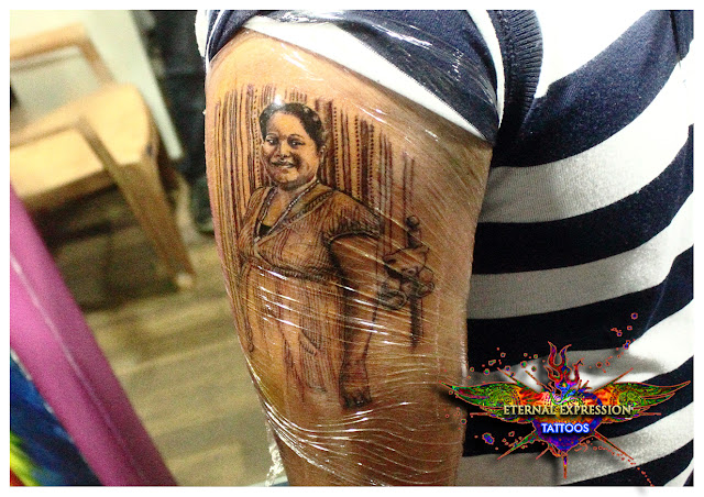 Portrait Tattoo by Veer   Hegde Eternal Expression Bangalore