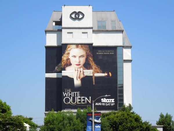 White Queen series premiere giant TV billboard