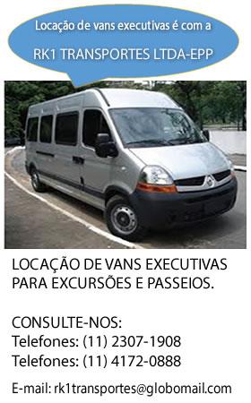 LOCAÇÃO DE VANS EXECUTIVAS