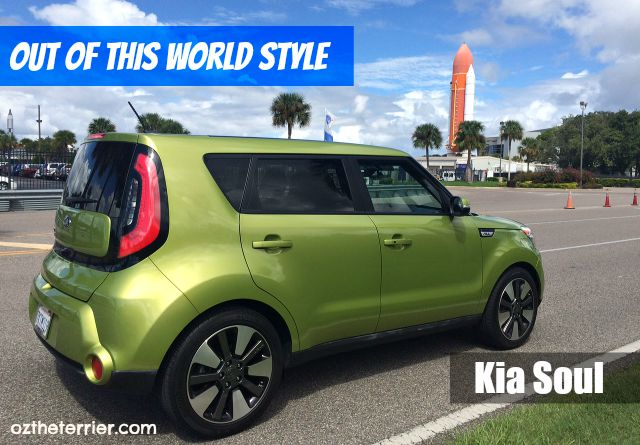 Oz the Terrier thinks Alien Green Kia Soul has Out of This World Style