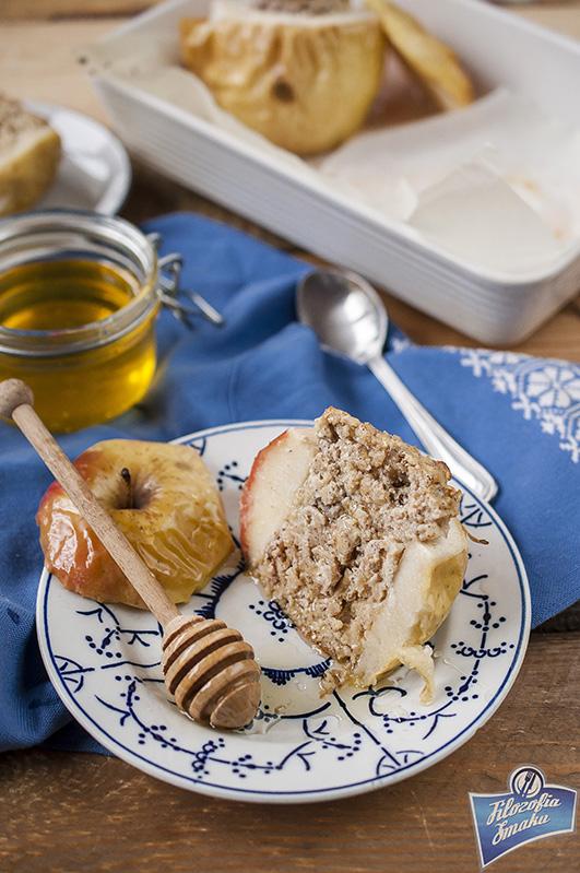 Zdrowy farsz do pieczonych jabłek