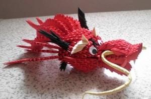 3D Origami Dragon Head