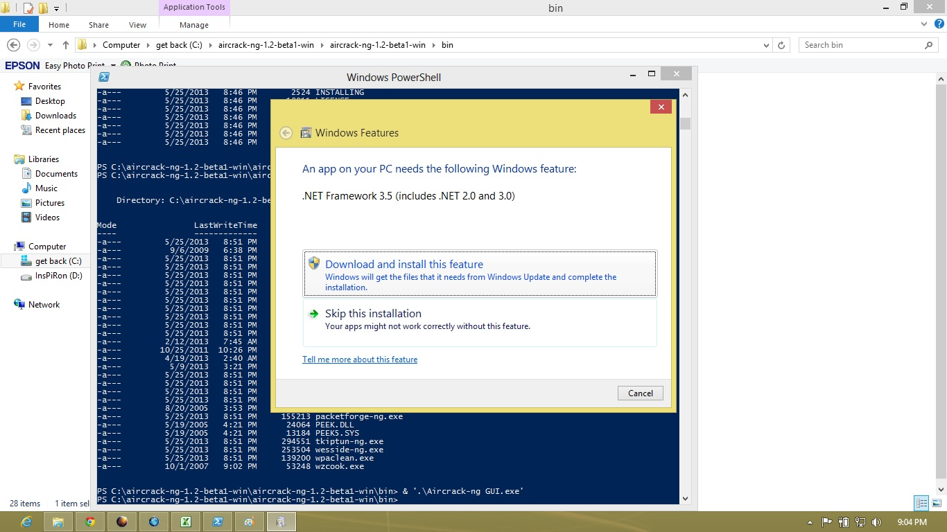 superglass: How to Install Aircrack-ng in windows 8 64bit or 32bit