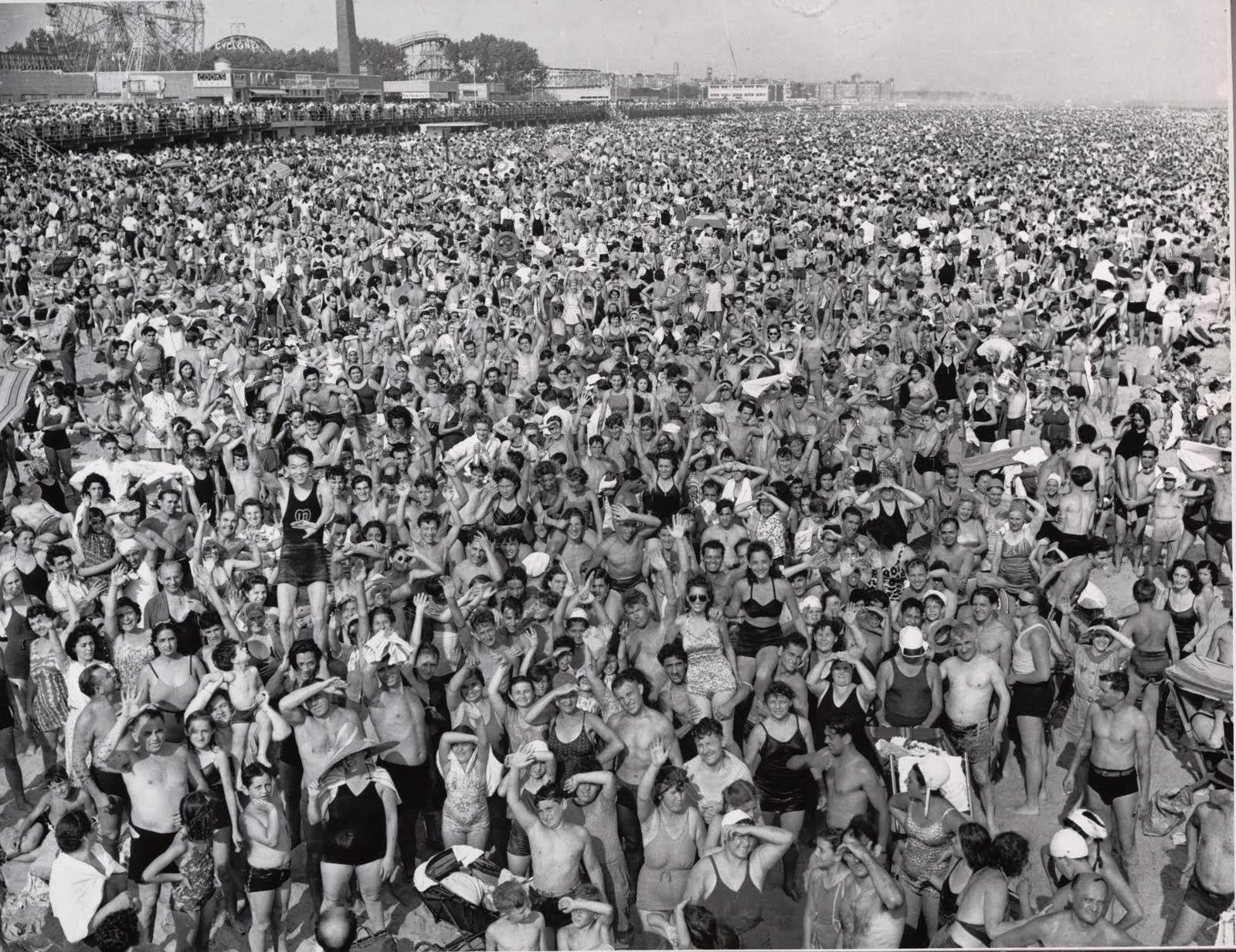 Coney Island Beach Weegee