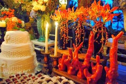 Decoração das bodas de coral