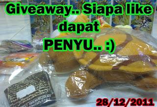 Giveaway.. Siapa like dapat PENYU.. :)