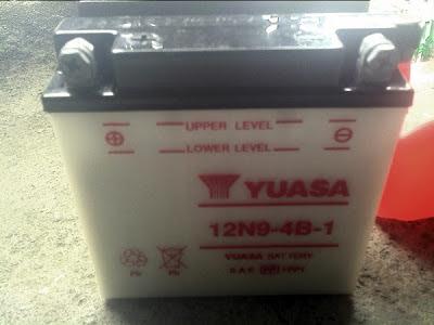 DIY - Bateri YUASA 12N9-4B-1