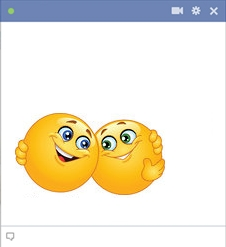 Facebook Smileys Hugging - Facebook Hug Emoticon