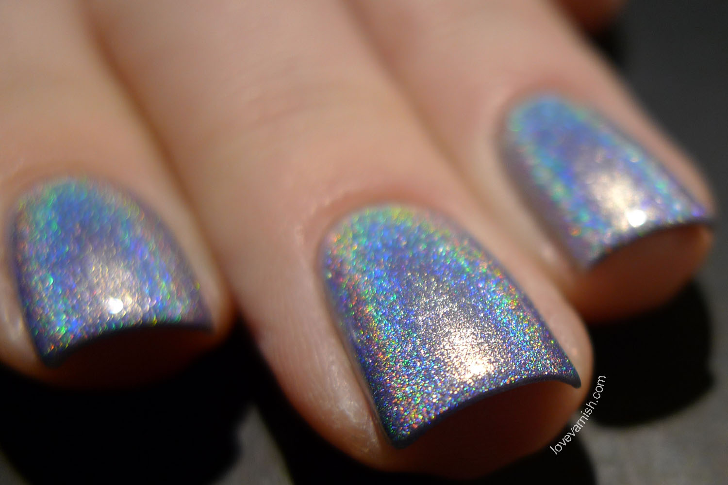 Too Fancy Lacquer Blue Willow blue silvery ultra holographic