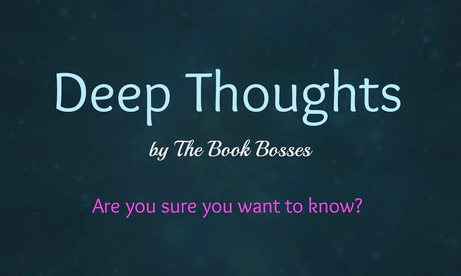 deep thoughts book bosses