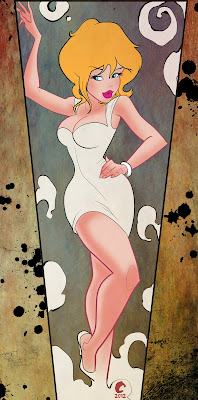 pin up cartoon girl