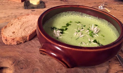 Pipe and Glass Pub - michelin star - Yorkshire - Watercress and wild garlic soup